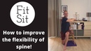 Fit Sit: Feldenkrais in a chair how to imrove the flexibility of the spine