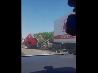 Авария с двумя фурами на въезде в Аксай  Ростов-на-Дону Главный