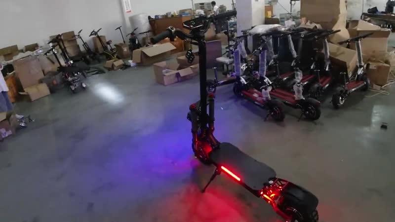 Мощный электрический скутер, 60V3200W, 11 дюймов, внедорожный, жирная шина, двойное моторное колесо