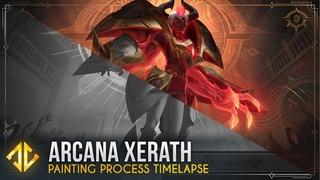 Painting Arcana Xerath - League of Legends Splash Art Timelapse