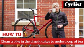 How to clean a road bike in the time it takes to make a cup of tea: Pro tips for a quick clean