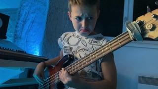 "(9yrs) AronTheBassist plays Bebe Rexha ft. Doja Cat ""Baby I'm jealous"" (bass cover)"