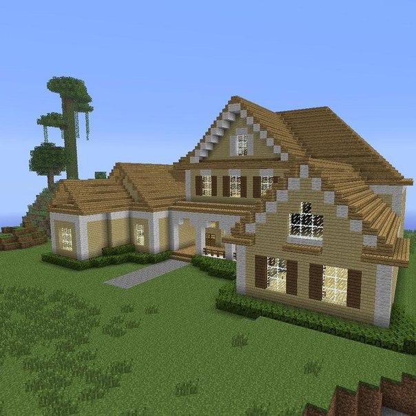 как построить красивый дом а майнкрафте #1