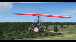 [FSX] Посадка Дельталета в Гостилицах (ULSG)/ Ultralight trike's landing at Gostilitsy (ULSG)