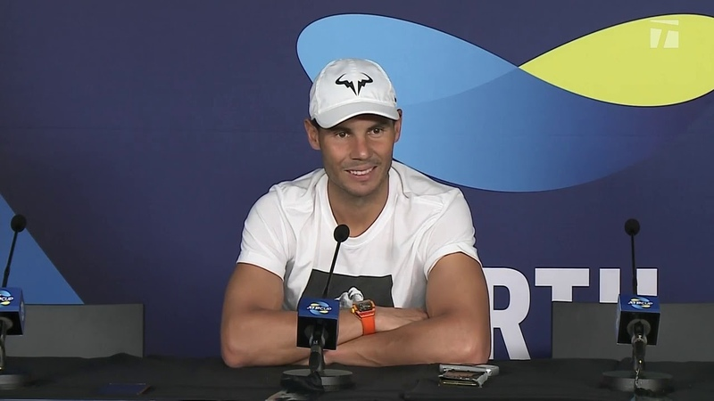 Rafael Nadal's press conference after his match against Pablo Cuevas ATP Cup 2020 Perth