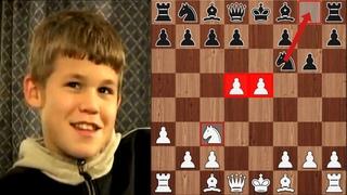 11-летний Магнус Карлсен ОШАРАШИЛ Соперника ЖЕРТВОЙ Коня на 5-м ходу! Гамбит Хэллоуин Шахматы