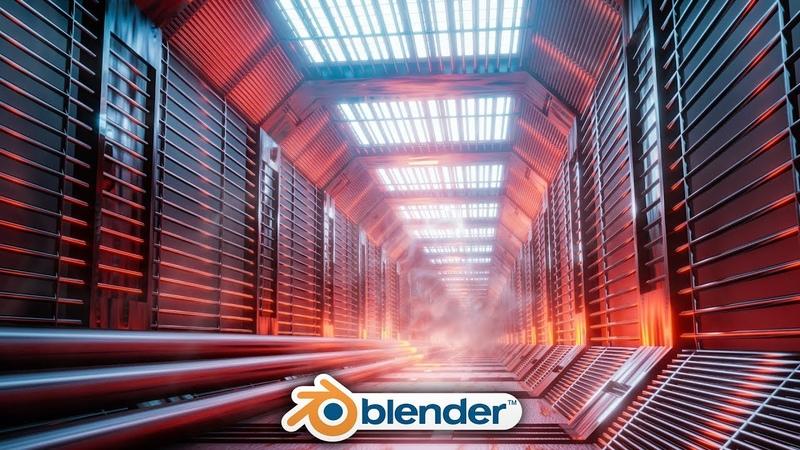 Blender - Easy Sci-fi Hallway Design in Eevee (Blender 2.8)