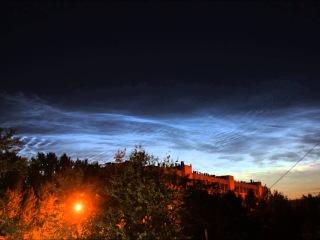 Noctilucent clouds, July 18, 2013. Veliky Novgorod