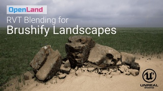 Use Runtime Virtual Texture (RVT) Blending with Your Brushify Unreal Landscape