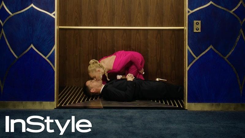Kate Bosworth Michael Polish 2020 Golden Globes Elevator InStyle