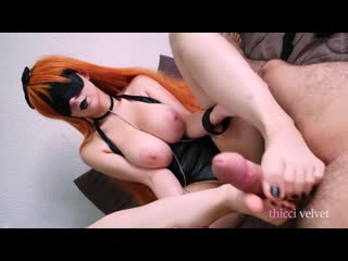 [ ThicciVelvet ] This Girl Has The Most Amazing Natural Boobs And Gives The Best Footjobs