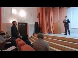 г.Самарская обл.п.г.т.Волжский.Сход граждан по наболевшей теме ЖКХ.