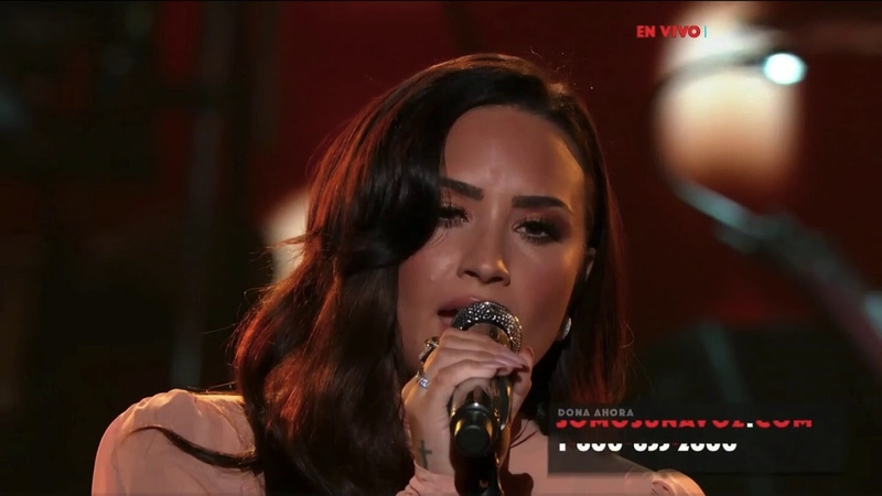 Demi Lovato Hallelujah Live at SOMOS Live October 14