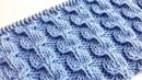 Красивый узор спицами для вязания шапок, носков, свитеров, пледов