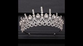 Свадебные аксессуары для волос, большая свадебная корона, стразы, хрустальная корона серебряного