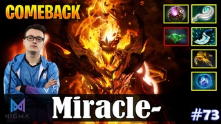 Miracle - Shadow Fiend MID | COMEBACK | Dota 2 Pro MMR Gameplay #73