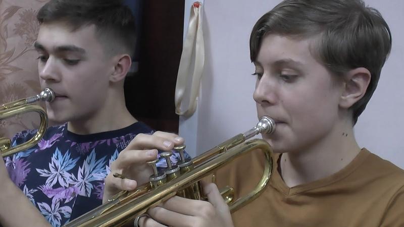 В70 (тур2) -А и Б играли на трубе -Студия «Колибри» Центра «Солнечный» г.Рыбинск