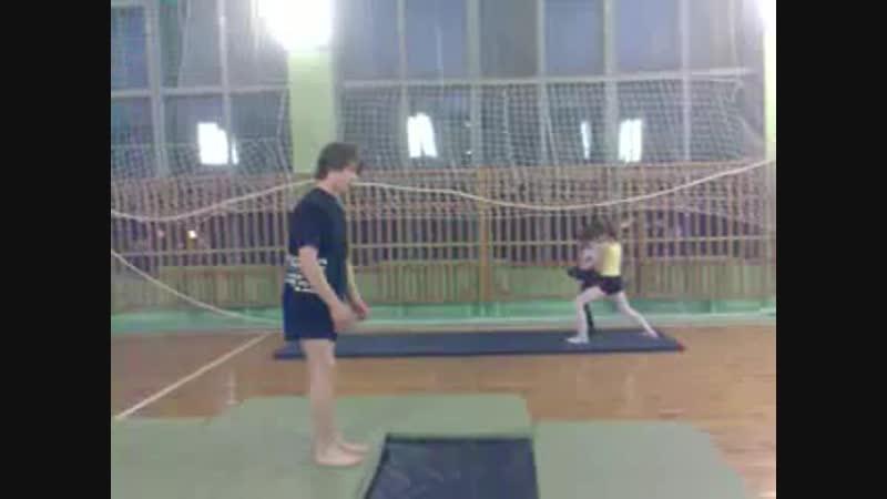 первая тренировка по акробатике после перерыва в два года