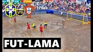 JOGÃO!!! BRASIL 4X3 PORTUGAL FUTEBOL DE AREIA | GOL DA VIRADA NO ÚLTIMO SEGUNDO + BIKE +LAMAAA !!!