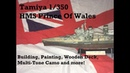 Tamiya 1/350 HMS Prince of Wales: Wooden Deck Mini Tutorial, Hull Weathering, Painting, Assembly