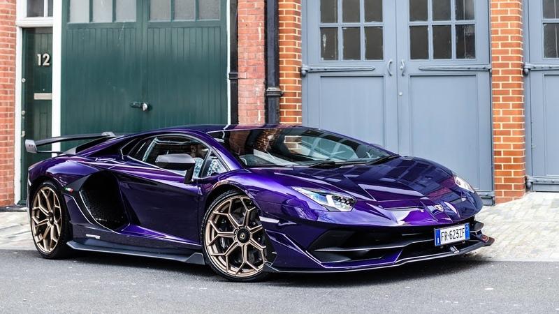 Lamborghini Aventador SVJ with custom Viola Aletheia paint in London!!
