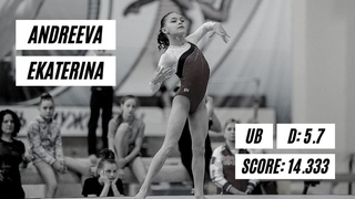 Ekaterina Andreeva    - Uneven Bars - Russian Youth Spartakiad 2021   All Around