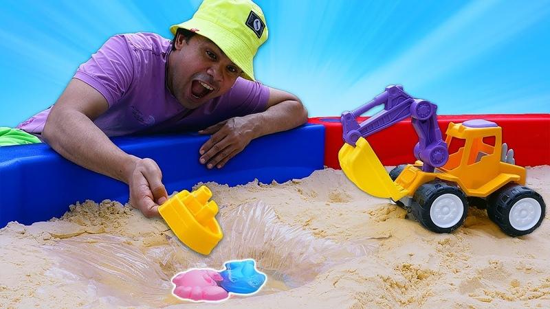 Vamos fazer um lago no Meu tanque de areia Educação infantil com brinquedos e jogos