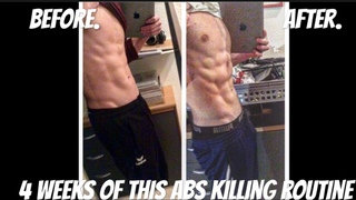 FULL HOME ABS ROUTINE [5min]- 4 WEEK TRANSFORMATION(BURN FAT GROW MUSCLES)