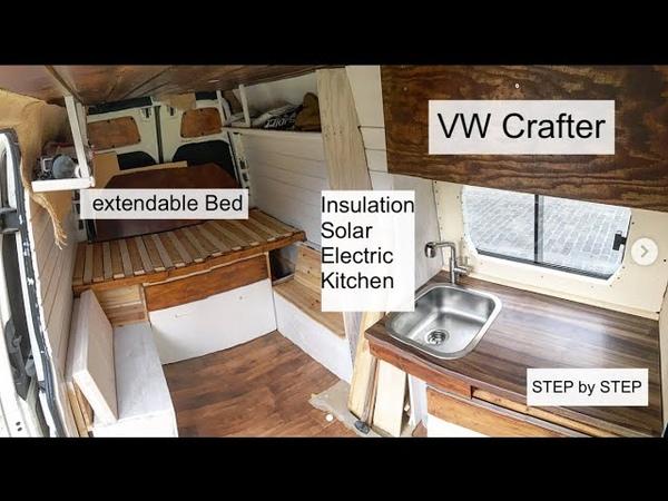 Full Van Conversion of a VW Crafter DIY Campervan Vanbuild for Couple Dog