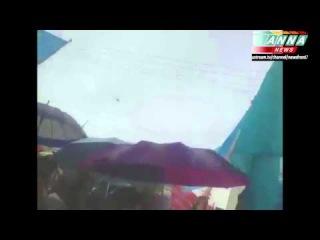 Симферополь. Вертолёты ВВС России обеспечили порядок на траурном митинге Крымских Татар