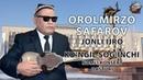 Orolmirzo Safarov jonli ijro Ko`ngil sog`inchi nomli konsert dasturi 2018