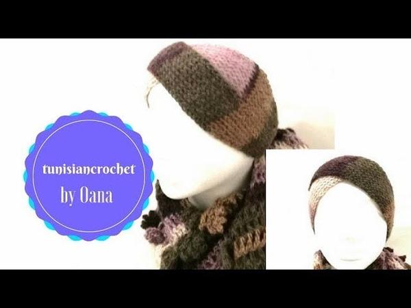 Uncinetto tunisino fasciaturbante per capelli by Oana
