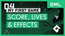 My First Game GML Score Lives Effects Space Rocks Part 4