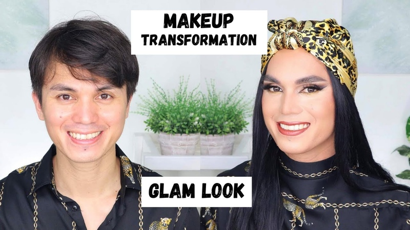 Makeup Transformation Boy to Girl Glam Look