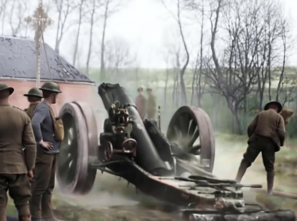 WW1 artillery (They shall not grow old)
