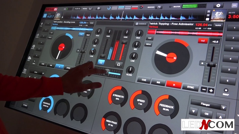 MIXER AVEC UNE TABLE TACTILE VIRTUAL DJ by Djeff E (Led and Com Vente Location)