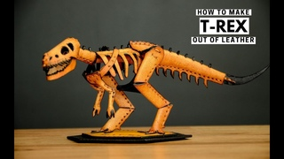 How to make leather T-REX with PDF PATTERN