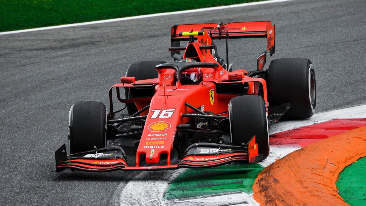 Шарль Леклер выигрывает квалификацию гран-при Италии 2019 года