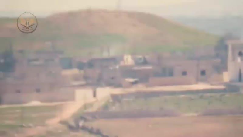 Машина перевозившая боеприпасы для преступного режима асада была уничтожена повстанцами на фронте Дадих в восточной части прови