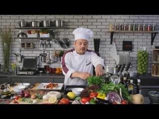 Ассорти из морепродуктов с базиликом от Лоренцо Страппато