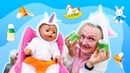 Как Мама для Милого Единорога! – Смешные видео с куклой Беби Бон. Онлайн игры для девочек.