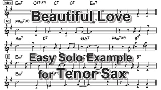 Beautiful Love - Easy Solo Example for Tenor Sax
