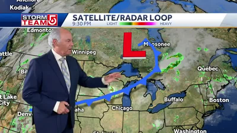 Video Relief from humidity will come to Mass after another round of scattered