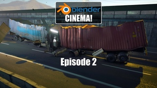 BLENDER CINEMA - Episode 2: Matrix trucks crash MADE IN BLENDER EEVEE!