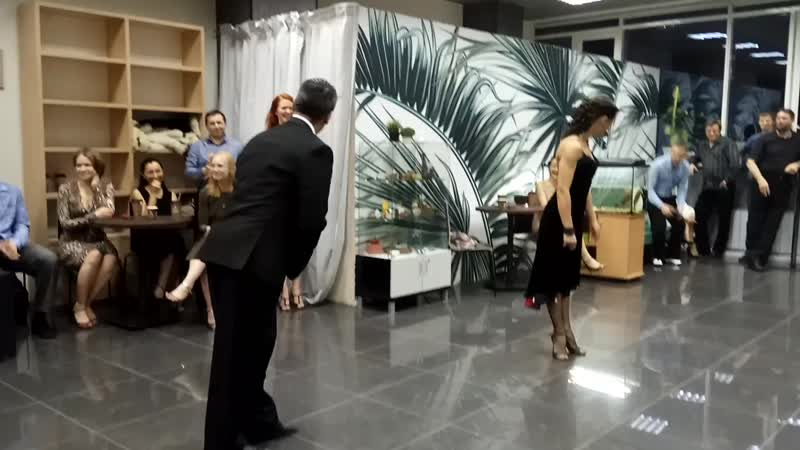 Нани Перальта и Анна Зеленова Мастер класс на милонге Первый танец