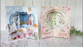 Мастер-класс Свадебные открытки с поп-ап конструкцией