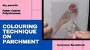 Colouring techniques on parchment Parchment art 32