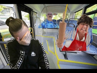 Бабульки в автобусах...