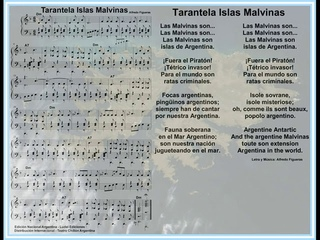Tarantela Islas Malvinas Acompañamiento Piano Alfredo Figueras Partituras Gratis Argentina