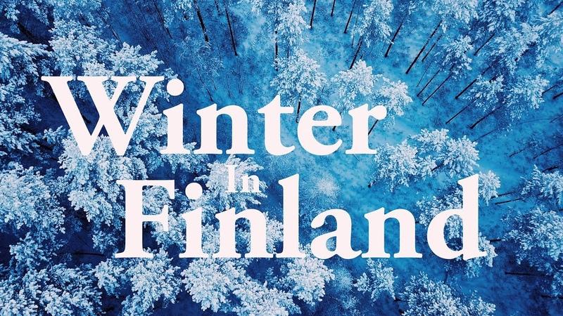 Flying over Finland: Snowy Winter [4K] Suomen Talvi ilmasta